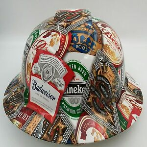 Image Is Loading Hard Hat Custom Hydro Dipped Full Brim Beer