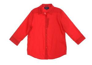 Jones-New-York-Signature-Women-039-s-Red-Stretch-Easy-Care-Shirt-Size-Medium