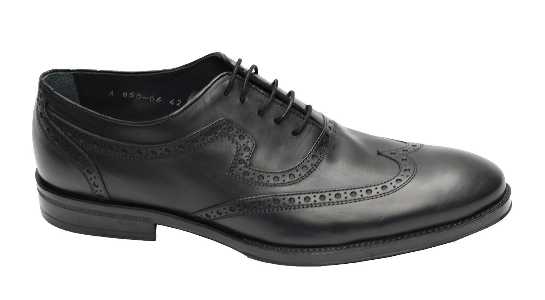 Herren Schuhe Schuhe Schuhe Echtleder Gr.42 Schwarz dbca96