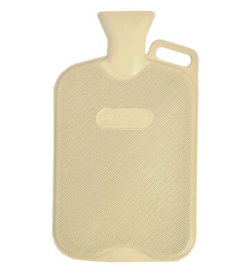 Large 2.7 Litre Cream Hot Water Bottle with Handle