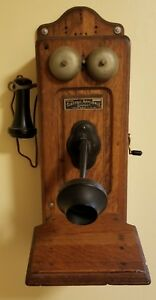 Electric-Appliance-Company-Telephone-amp-Telegraph-Compass-Hand-Crank-Phone