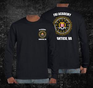 FBI-Academy-Quantico-Custom-Men-039-s-Long-T-Shirt-Tee