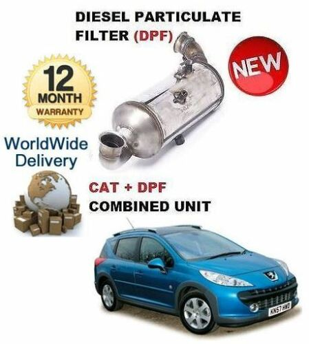 FOR FPEUGEOT 207 1.6HDI 2006> DIESEL PARTICULATE DPF & CAT CATALYTIC FILTER KIT