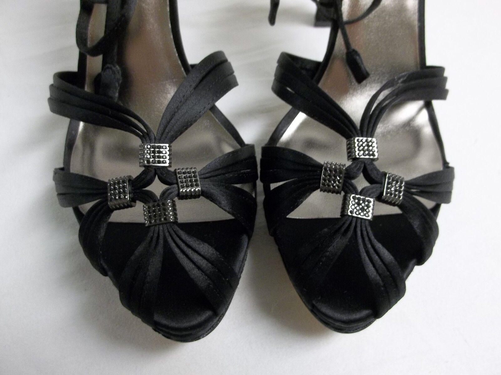 3ce216e31e7 Buy BCBG Max Azria Elise Womens Size 10 Black Textile Dress Sandals Shoes  online
