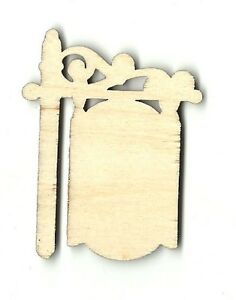 Hanging sign decor unfinished wood shape craft supply for Craft supplies wooden shapes