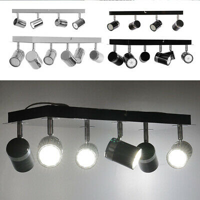 6 Lamp Spotlight Kitchen Room GU10 Adjustable Fixed LED Ceiling Light Fitting 4