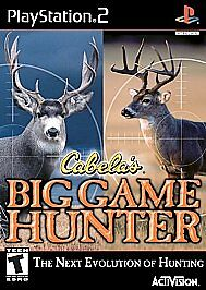 Cabela-039-s-Big-Game-Hunter-PlayStation-2-PS2-Disc-Only-Tested-Fast-Free-Ship