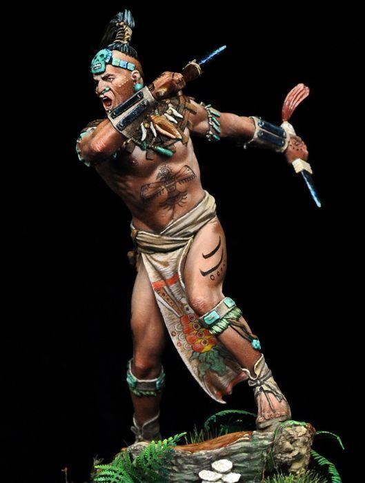 Tin Soldier, Museum, Maya Warrior, Indians, Hunter, Spain, Conquistadors, Conquistadors, Conquistadors, 75mm 942564