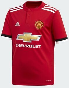 a53bf7cdcff Image is loading Adidas-Manchester-United-Junior-Kids-Home-Kit-Football-