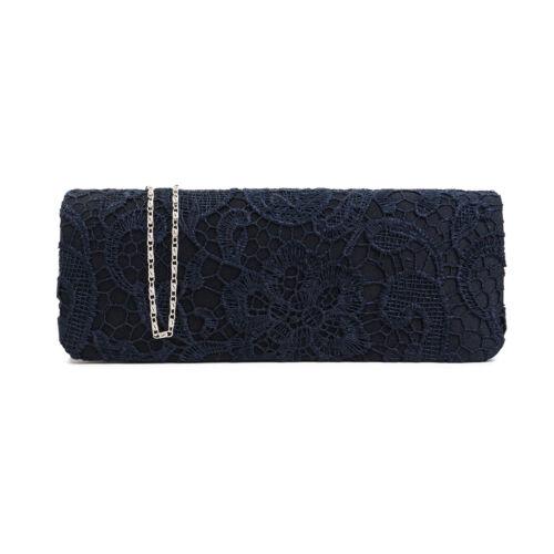 Satin Womens Handbag Designer Ladies Clutch Bag Floral Lace Purse for Parties