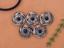 10X-Bohemian-3D-Flower-Turquoise-Conchos-For-Leather-Craft-Keychian-Wallet-Decor miniatuur 7