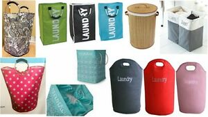 NEW-FOLDING-LAUNDRY-BAGS-BASKETS-WASHING-CLOTHES-TOY-STORAGE-HAMPER-BIN-BAGS