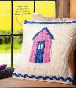 Knitting Pattern For Jolly Beach Hut Cushion - Alexandria, West Dunbartonshire, United Kingdom - Returns accepted on clothing and shoes within fourteen days - Alexandria, West Dunbartonshire, United Kingdom