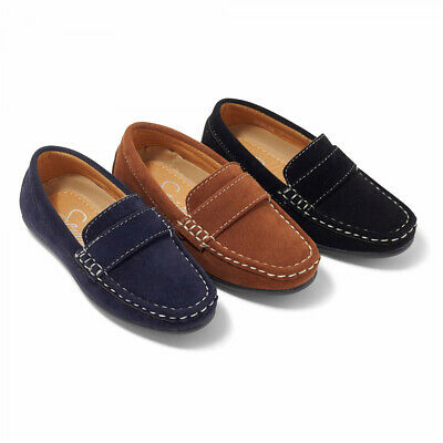 BNWT Boys suede loafers in Tan, Navy or