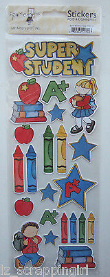 SUPER STUDENT Stickers My Mind's Eye MME Frame Ups; Back to school, first day of