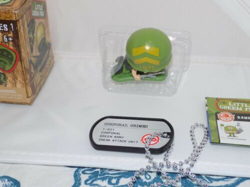 Awesome Little Green Men Green Army CORPORAL GRIMES #021 W// dog tag 16