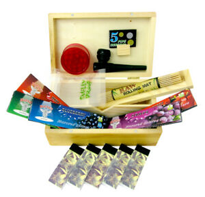 Smokers-Rolling-Box-Gift-Set-Wooden-Storage-Hornet-Papers-Grinder-Pipe-Raw-Mate
