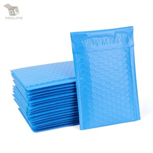 250 Blue Poly Bubble Padded Envelopes Self-Sealing Mailers 6X10 Inner 6x9
