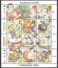 Guernsey 1992 Navidad animado 12v Sht ref:b6190