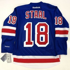 newest 50ec7 c9244 Details about MARC STAAL NEW YORK RANGERS REEBOK PREMIER HOME JERSEY