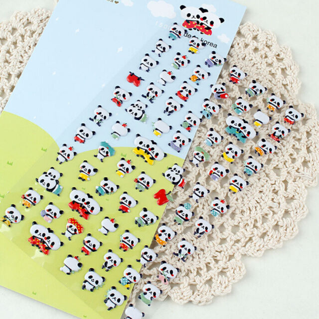 1 Set Kid Crafts Panda Soft Padded 3D Stickers Scrapbooking Party Xmas Gift RS