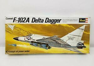 Vintage-1969-Revell-Model-Kit-Convair-F102a-Delta-Dagger-1-72-Scale-H-130-130