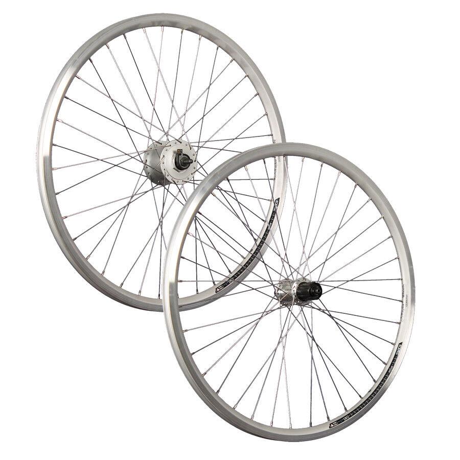 Taylor Wheels 26 pulgadas en rueda-conjunto de X-plorer llantas Shimano Nabendynamo plata