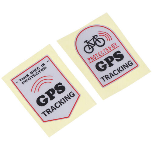Anti Theft Safety Decal Bicycle GPS Tracking Stickers Bike ProtectionRAS