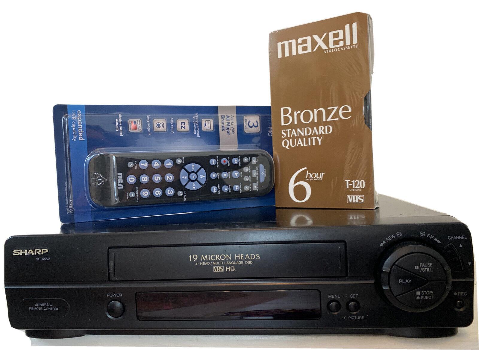 Sharp 4-Head VCR VC-A560