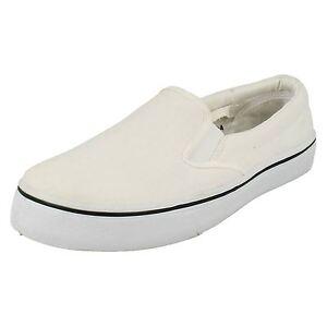 SALE* Spot On A1095 Mens White Slip On