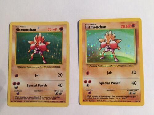 Pokémon #7//102 Hitmonchan VG Condition Holo 1 Left