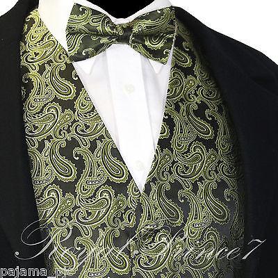 Red XS to 6XL Paisley Tuxedo Suit Dress Vest Waistcoat /& Bow tie Wedding Prom