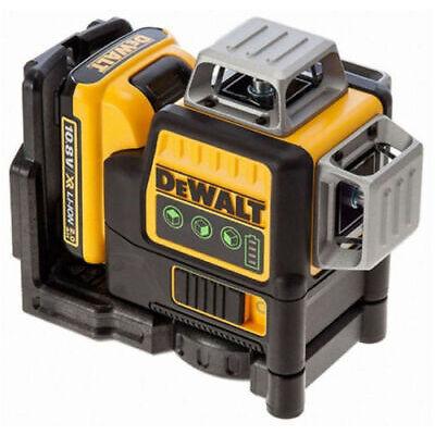 DeWALT DCE089D1G Self Levelling Cross Line Laser 10.8V x3 360° Green Beam