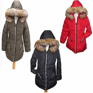 Hot-Ladies-Womens-Jacket-Hooded-Winter-Quilted-Coat-Size-MLXL-OUTWEAR-UK