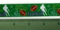 Football Brown Green Black Satin Ribbon Sports Team Ball Offray 7/8 Wide
