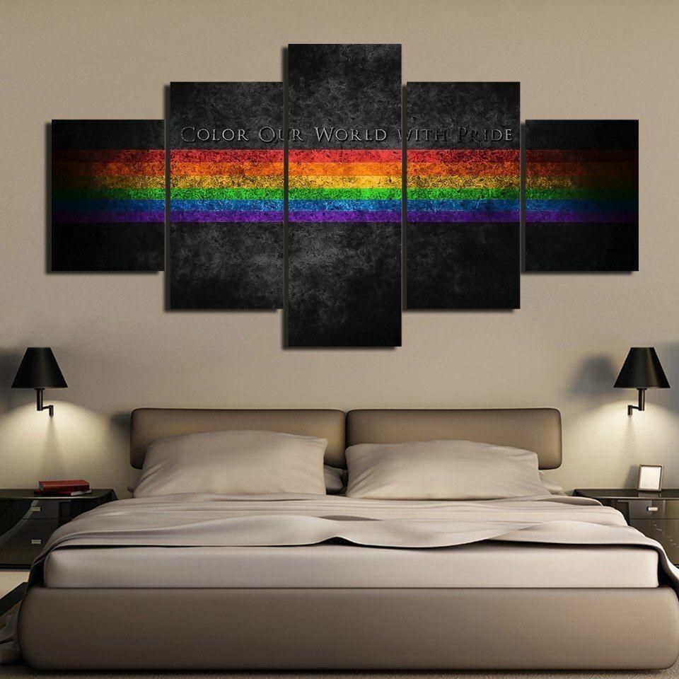Farbeful LGBT Pride Symbol HD Printed Canvas Wall Decor Home Decor Canvas Print