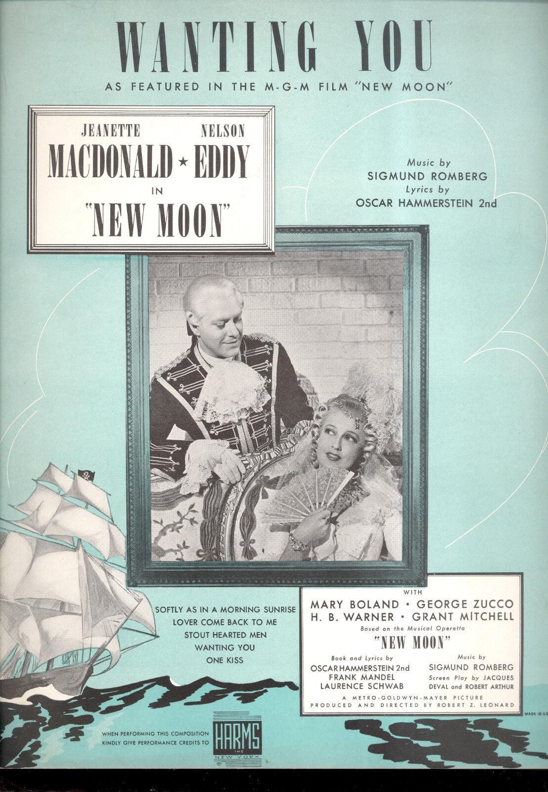 Luna Luna Luna Nueva partituras  que desean que  Jeanette MACDONALD NELSON EDDY  los clientes primero