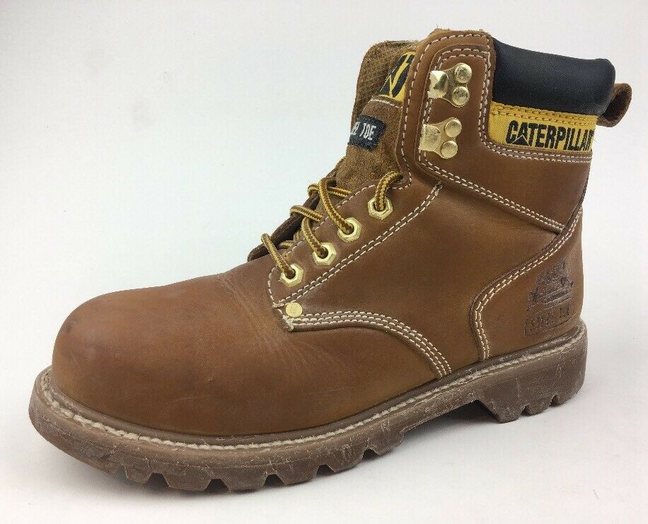 CAT Caterpillar Men's Second Shift P89162 Honey Work Boots Size 9  423