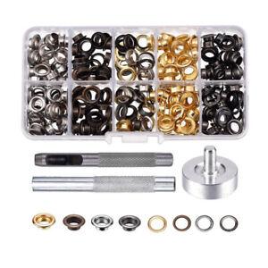 100x-Osen-mit-Scheiben-Ose-4-Farben-6-mm-Knoepfe-Osen-Nieten-Lochstanz-werkzeug