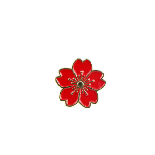 Cherry Blossoms Flower Brooch Enamel Pins Jacket Bag Pin Badge Jewelry Gift dz
