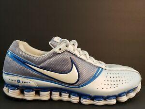 nike shox turbo+ 11 zapatillas hombres sport blanco negro