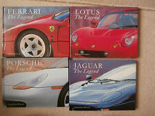The legend.Ferrari.Jaguar.Lotus.Porsche.Konig.Hodges.Wood.  4 books.Present.