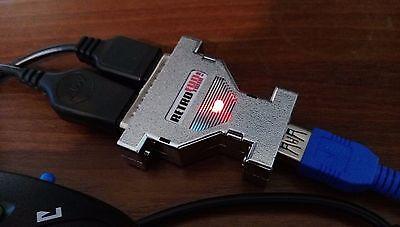 Retrofun! Twin-connect 2x Retrò Joystick Per Pc! Amiga Atari Commodore C64 C128-