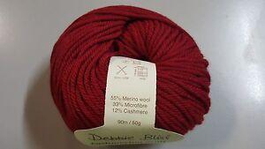 Debbie-Bliss-Cashmerino-Aran-300610-Red-50g