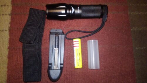 From N Fl. Falcon LED Tactical Zoom Flashlight kit with blinding strobe effect