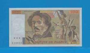 100 Francs ( Eugène Delacroix ) De 1986 M.105 Billet N° 2611110535 8sk4o7pb-07234148-286499963