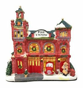 Image Is Loading Battery Powered LED Fire Station Indoor Christmas Scene