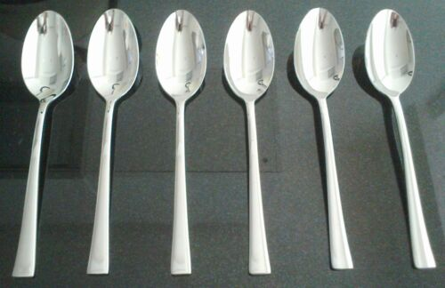 6 x Beautiful New Top Quality Strong Dinner Table //Kitchen Spoon Stainless Steel