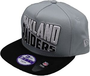 A27 NEW ERA NFL 9FIFTY Snapback Baseball Cap   OAKLAND RAIDERS Grey ... 2a6b442b657