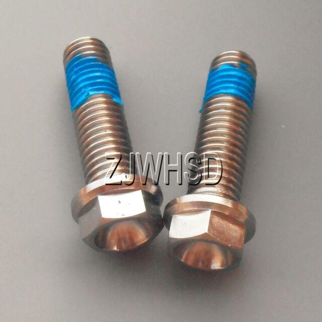 M6 x 90 Titanium Ti Screw Bolt Hexagon Hex Head Flange with Blue ThreadLocker